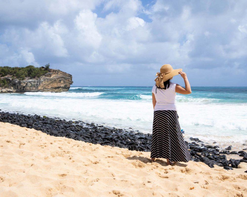 Woman on a Kauai Beach