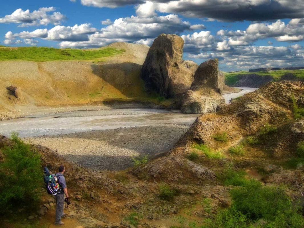 Kevin Wagar hiking in Iceland